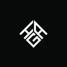 HAG Letter Logo Design On Black Background. HAG Creative Initials Letter Logo Concept. HAG Letter Design.