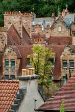 View Of The Dean Village Rooftops In Edinburgh Scotland