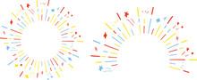 手描き 3色ラインスター集中線