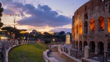 Colosseum At Night City