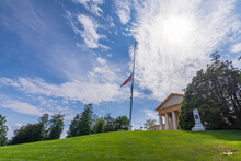 Arlington House With Stars & Stripes At Half Mast - Arlington, USA