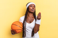 Making Capice Or Money Gesture, Telling You To Pay Your Debts!. Basket Concept