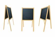 Special Menu Announcement Board. Vector Clean Restaurant Outdoor Blackboard Background. Chalkboard For Menu Restaurant Illustration.