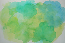 Abstract  Colorful  Bright Watercolor On White Background