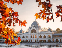 City Lake In Autumn In Budapest