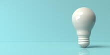 Light Bulb On A Colored Background - 3D Render