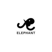 Elephant With Letter E Logo