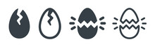 Broken Egg Icon Sign Symbol