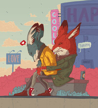 Fox And Wolf In Love
