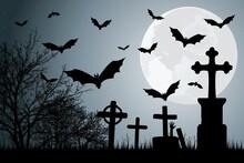 Décor Avec Chauves-souris Pour La Nuit D'halloween