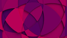 Pink And Purple Tech Background With A Geometric 3D Structure. Clean, Minimal Design With Simple Futuristic Forms. 3D Render.