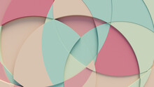 Pastel Colored Tech Background With A Geometric 3D Structure. Clean, Minimal Design With Simple Futuristic Forms. 3D Render.