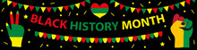 Black History Month Banner, Template For Your Design. African American History Poster, Card, Background. Vector Illustration