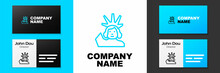 Blue Line Statue Of Liberty Icon Isolated On White Background. New York, USA. Logo Design Template Element. Vector