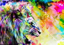 Lion Art Full Color , Animal