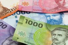 Colorful Bills Of Chilean Peso