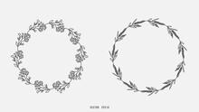 Set Wreath Leaf Frame , Flat Modern Design , Illustration Vector EPS 10