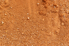 Ground Surface Texture, Red Soil Background