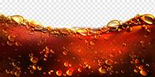 Air Bubbles Cola, Soda Drink, Beer Or Water Border