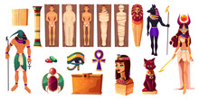 Egyptian Gods Thoth And Hathor. Ancient Attributes
