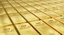 Złoto W Sztabach 1000g. 3d Render