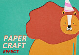 Effect Add-On Lion Paper Cut Out Style