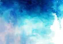 森をイメージした青緑の背景イラスト