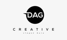 DAG Creative Circle Letters Logo Design Victor