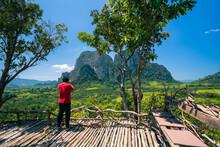 Traveller Take A Photo  Of Kuan Nom Saow Mountain Krabi,Thailand