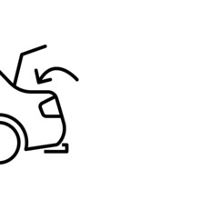 Car With Open Trunk Icon. Vector