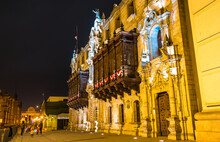 Archbishop Palace Of Lima In Peru
