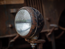 Old And Vintage Headlight Of Tractor