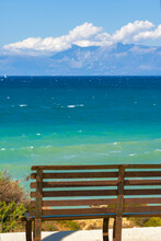A Seated Bench Looking Out To Sea