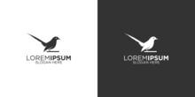 Silhouette Magpie Bird Logo Design