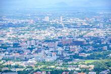 Chiang Mai Aerial View From Viewpoint On Doi Suthep Mountain, Chiangmai, Thailand