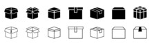 Box Simple Icon Collection. Box In Flat Style. Carton Box Icons. Stock Vector Illustration...