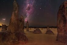 Crux And Carina At The Pinnacles Desert In Western Australia, Australia