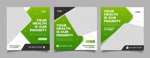 Medical Care Social Media Post Template Design Banner
