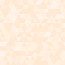 Geometric Vector Pattern With Light Pink Triangles. Geometric Modern Ornament. Seamless Abstract Background