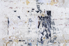 Dirty Damaged Concrete Wall, Remnants Of Paint And Stains. Urban Background