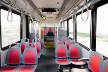 Seats In Empty Public Transit Bus