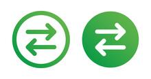 Change Icon Button. Exchange Arrow Icon Vector.