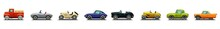 Car Icons Set. Set Of Car Icons.