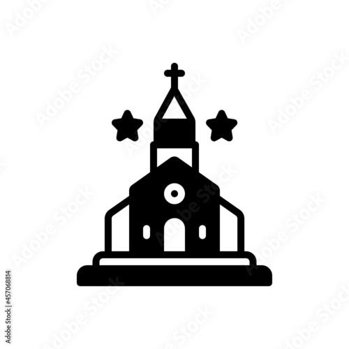 Carta da parati Black solid icon for kirk