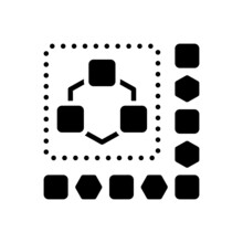 Black Solid Icon For Module
