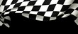canvas print picture - background of checkered flag pattern
