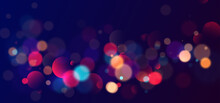 Colorful Bokeh Lights Background. Blurred Circle Shapes. Vector Illustration
