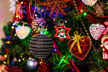 Beautiful Shot Of Colorful And Unique Christmas Decorations