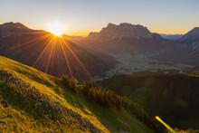 Gorgeous Mountainous Area On The Sunrise