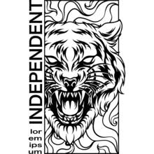 Tiger Head Modern Design Bnw
